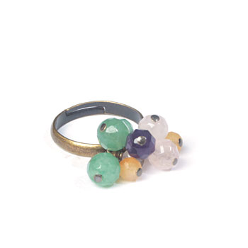 Rainbow : Bague pampille
